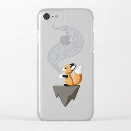 Fox Tea Clear iPhone Case