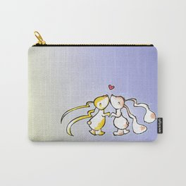 Kissing Bunnies (purple version) Carry-All Pouch