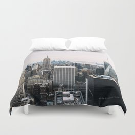 New York skyline from Top of the Rock Duvet Cover