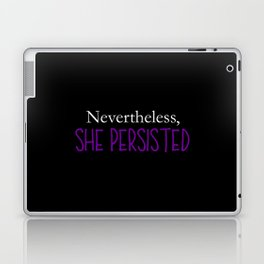 Nevertheless, She Persisted - Purple on Black Laptop & iPad Skin