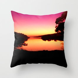 Magenta Morning Sunrise Throw Pillow