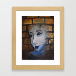 Lady in the Brick Framed Art Print