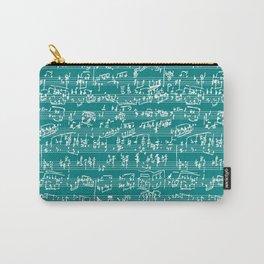 Hand Written Sheet Music // Teal Carry-All Pouch