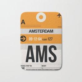 AMS Amsterdam Luggage Tag 2 Bath Mat