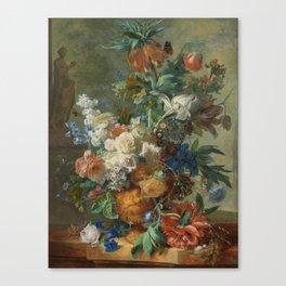 Jan van Huysum - Still life with flowers (1723) Canvas Print