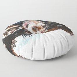 Three Sleepy Ferrets Floor Pillow