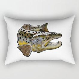 Killer Brown trout Rectangular Pillow