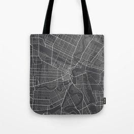 Winnipeg Map, Canada - Gray Tote Bag