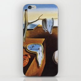 THE PERSISTENCE OF MEMORY - SALVADOR DALI iPhone Skin