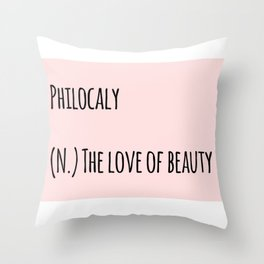 The Love Of Beauty Throw Pillow