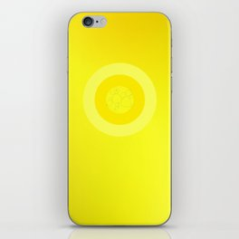 Yellow Ornament Cricle iPhone Skin