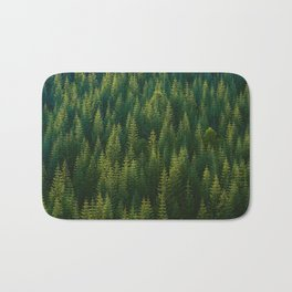 The Green Forest (Color) Bath Mat