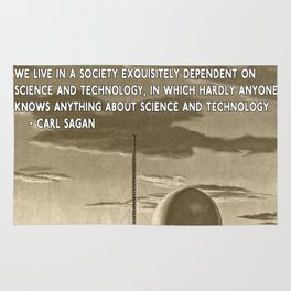 Science and Technology Quote Carl Sagan Rug
