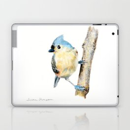 Tufted Titmouse by Teresa Thompson Laptop & iPad Skin