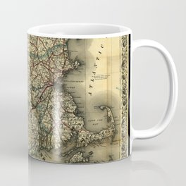 Vintage Map of Southern New England: Connecticut, Rhode Island, and Massachusetts Coffee Mug