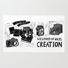Weapons Of Mass Creation - Photography (blockprint) Rug