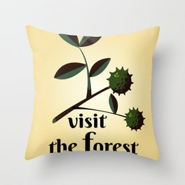Visit The Forest Government poster Throw Pillow