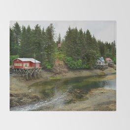 Seldovia Slough - Alaska Throw Blanket