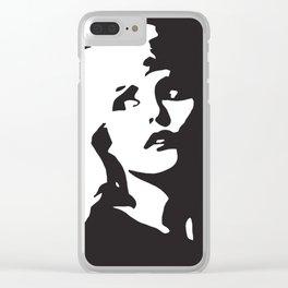 Blondie, Music Legend, Black, White, Cinema, Art, Author, Song Writer, Musician, Punk, Clear iPhone Case