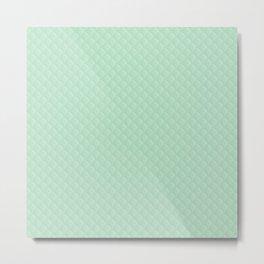 Summermint Pastel Green Mint Puffy Quilt Metal Print