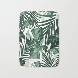 Tropical Jungle Leaves Pattern #4 #tropical #decor #art #society6 Bath Mat
