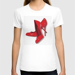 Put on your red shoes and dance the blues T-shirt