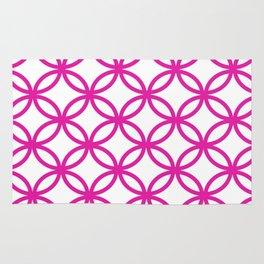 Interlocking Pink Rug