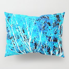 Turquoise Trees Pillow Sham