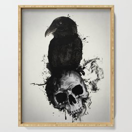Raven and Skull Serving Tray