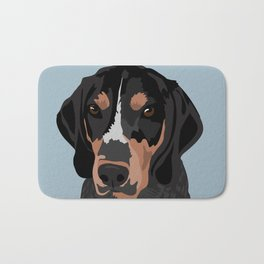 Doc Bluetick Coonhound Bath Mat
