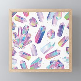 Purple Crystals Framed Mini Art Print
