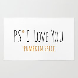 PS I Love you - Pumpkin Spice Rug