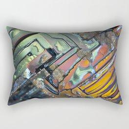 Colorful Geometric Shapes Rectangular Pillow