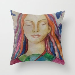 Hold Up the World Throw Pillow