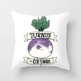 Turn-ups Throw Pillow