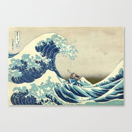 Katara Riding the Wave Canvas Print