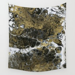 Team Splash, Black and Gold Wall Tapestry