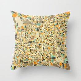 ATLANTA MAP Throw Pillow