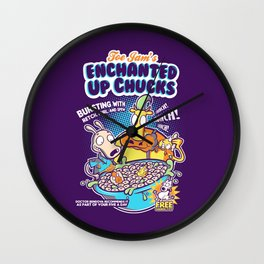 Enchanted Up Chucks Wall Clock