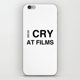 Cry At Films iPhone Skin