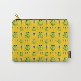 Frogs & Dragonfly Pattern Carry-All Pouch