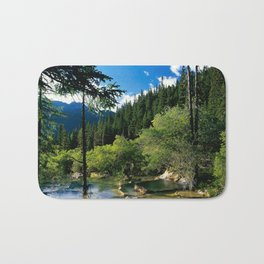 Mountain Forest Lake Bath Mat