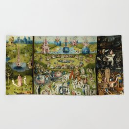 Hieronymus Bosch The Garden Of Earthly Delights Beach Towel