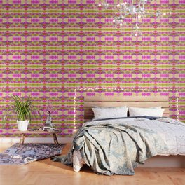 Bright Green And Fuchsia Wallpaper