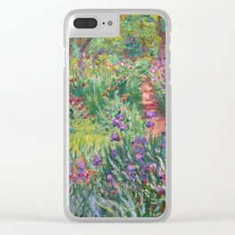 The Iris Garden at Giverny by Claude Monet Clear iPhone Case