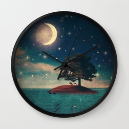 A Quiet Place for Two Wall Clock