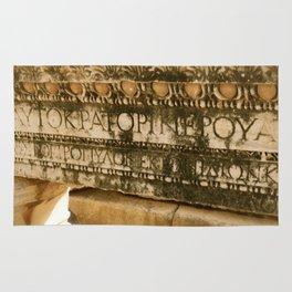 Greek Engravings Rug