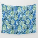 LAPIS PINEAPPLE O'CLOCK Tropical Print by barbraignatiev
