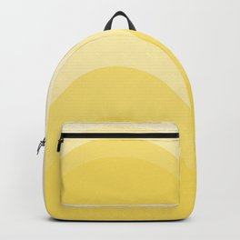 Four Shades of Yellow Curved Backpack