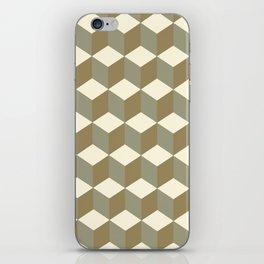 Diamond Repeating Pattern In Meerkat Brown and Grey iPhone Skin